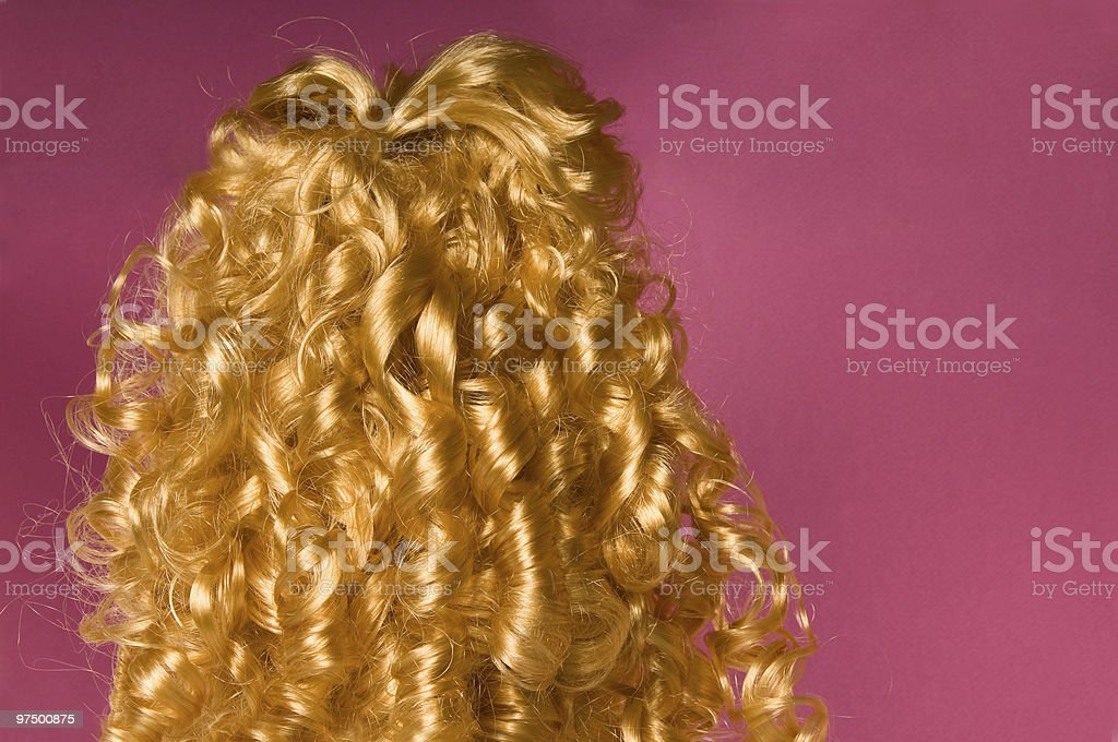 Blonde curly hair royalty-free stock photo