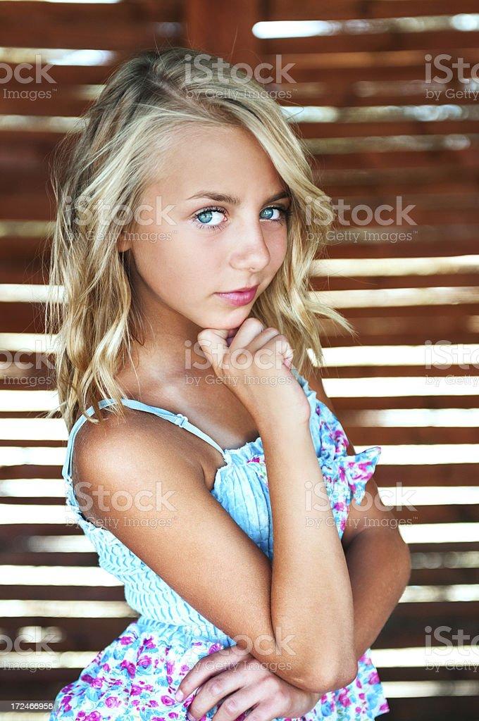 Tiny blonde teens