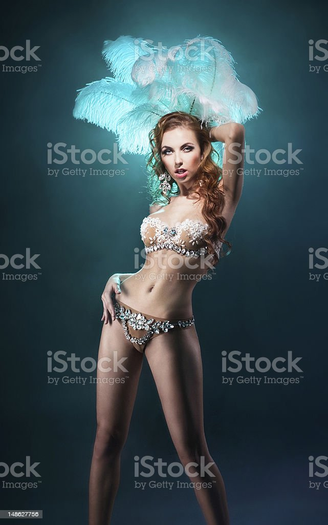 Blonde dancer stock photo