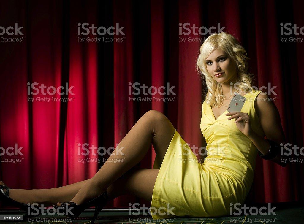 Blonde diva royalty-free stock photo