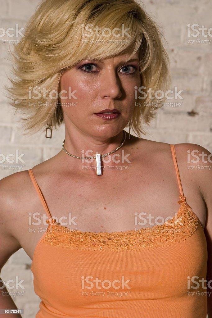 Blonde Fashion 003 royalty-free stock photo