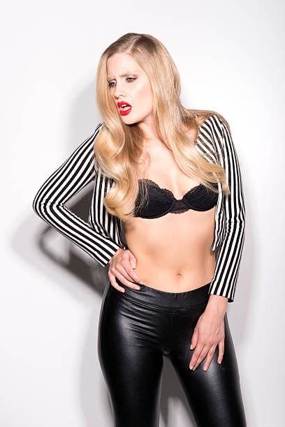 Tall blonde model