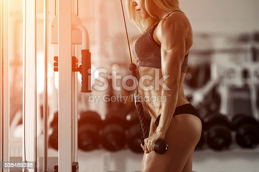 istock Blonde fitness girl 538489398