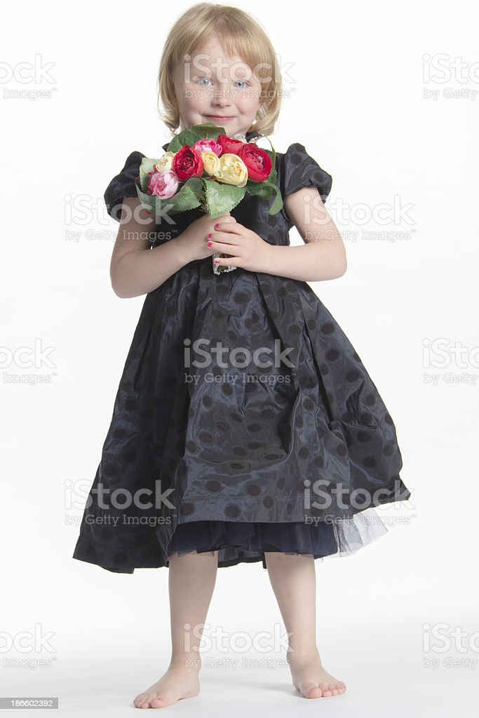 Blonde flower girl royalty-free stock photo