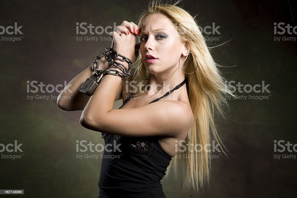 blonde girl royalty-free stock photo