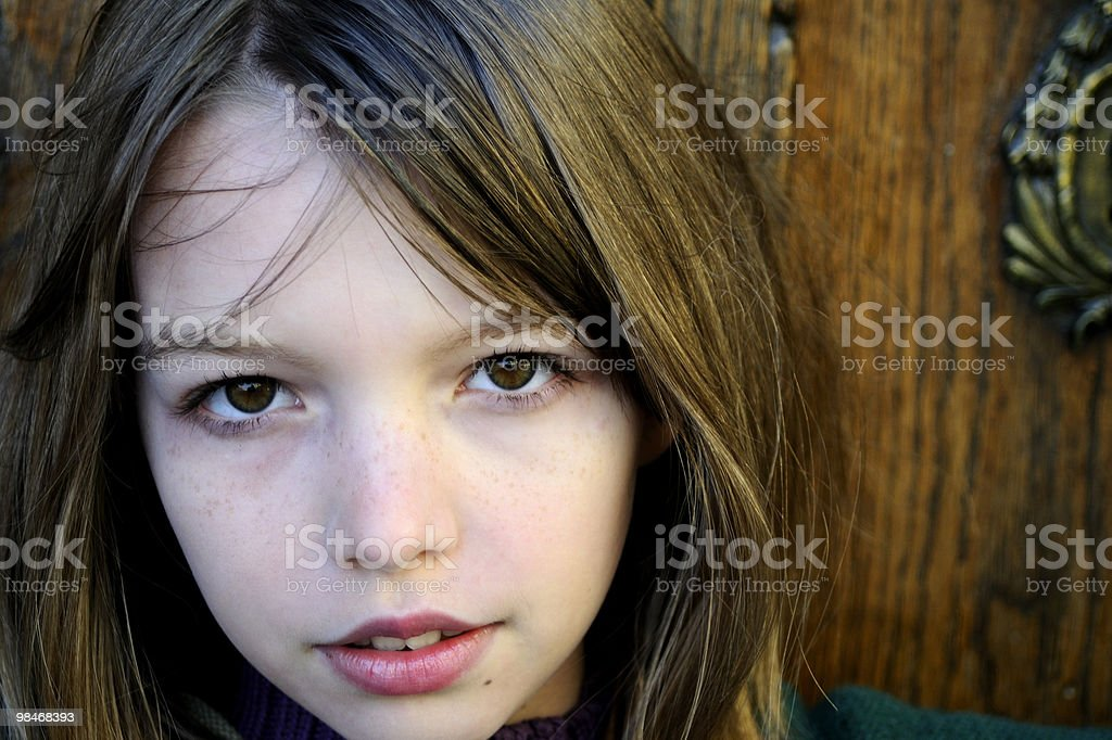 blonde girl portrait royalty-free stock photo