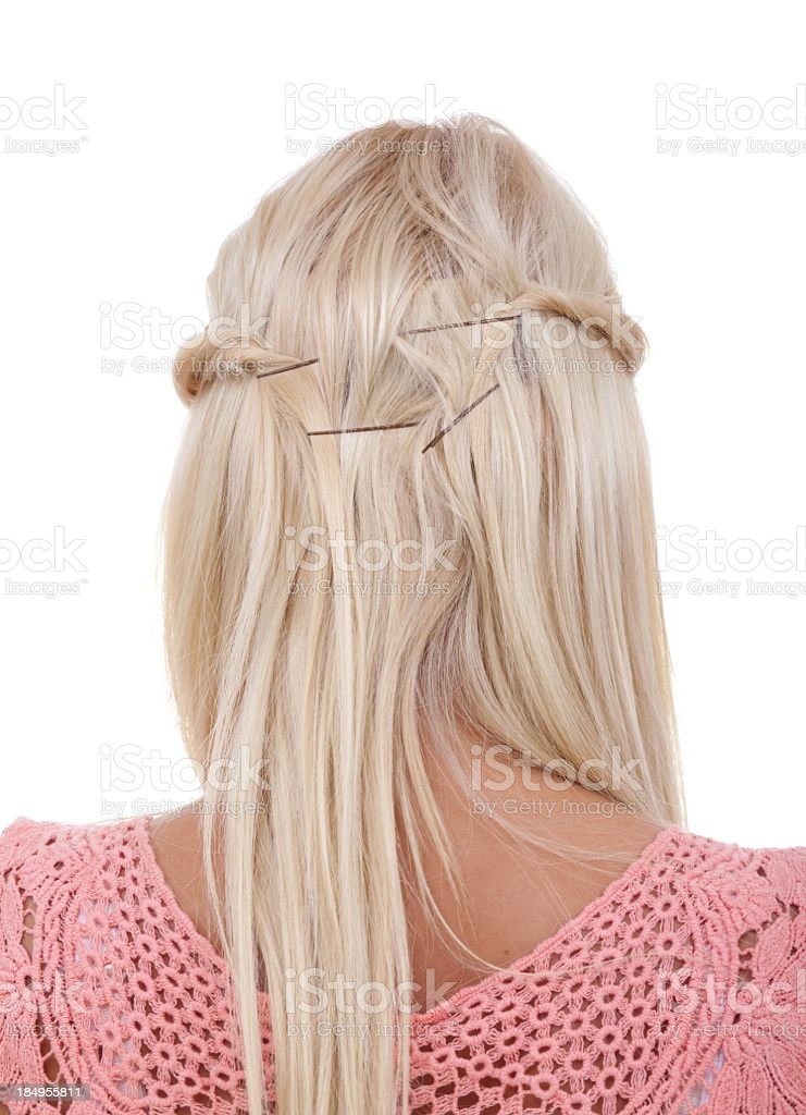 Blonde Hair Extension royalty-free stock photo