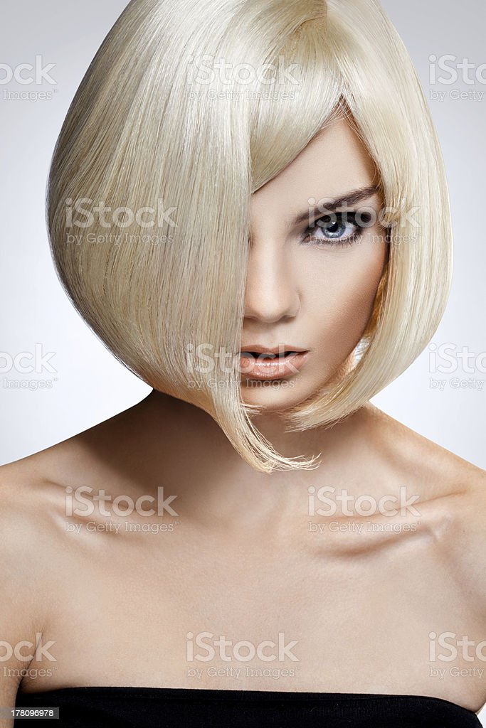 Blonde Hair. High quality image. stock photo