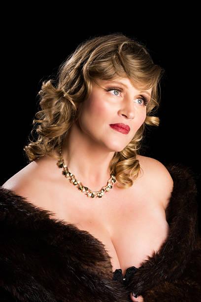 Best Beautiful Mature Woman In Fur Coat Stock Photos