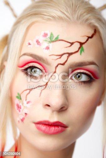 istock Blonde in the Sakura image 104250904