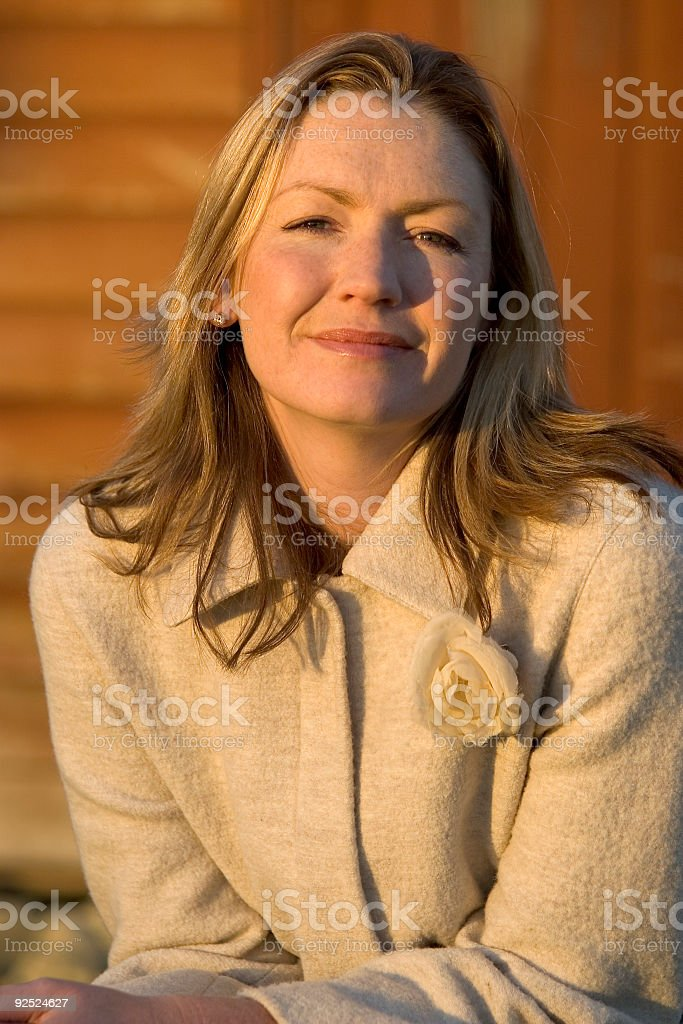 Blonde in Warm Sunlight royalty-free stock photo