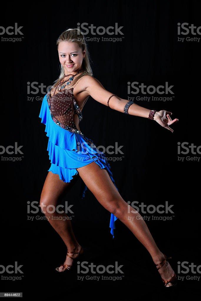 blonde latin dancer royalty-free stock photo