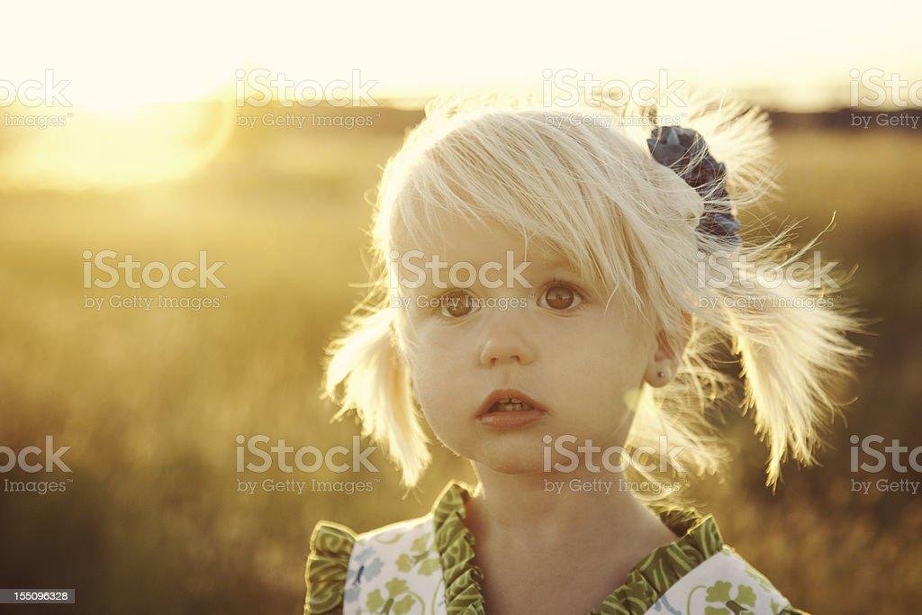 Blonde Little Girl royalty-free stock photo