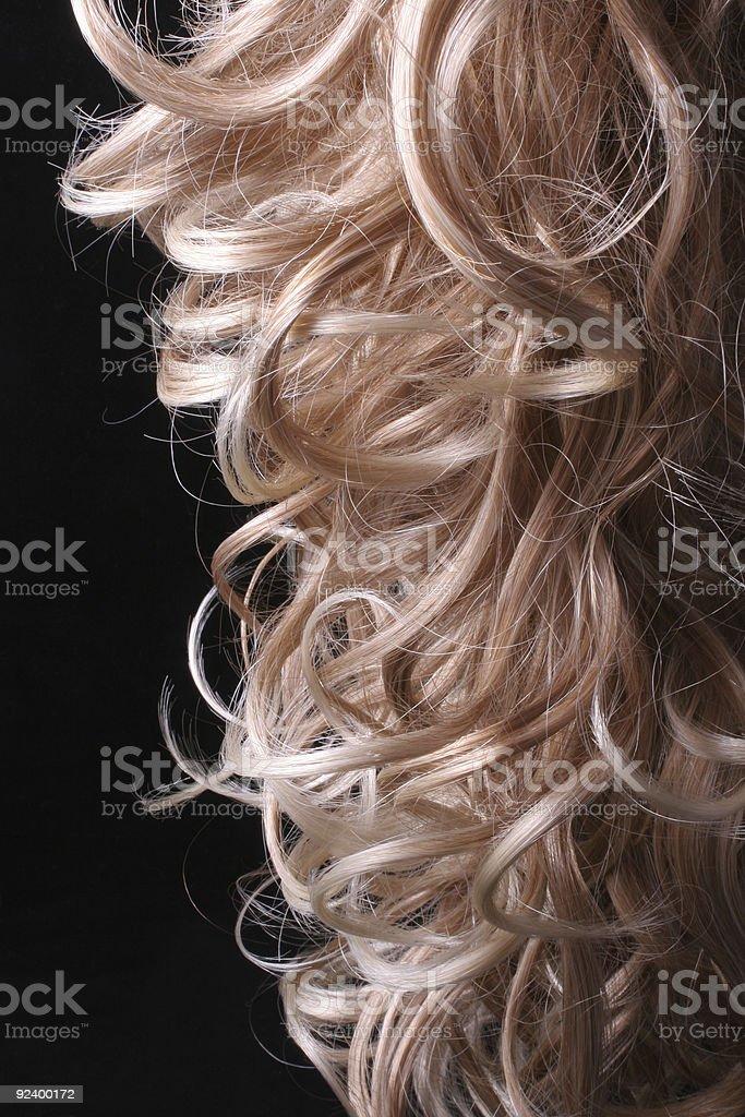 Blonde locks royalty-free stock photo