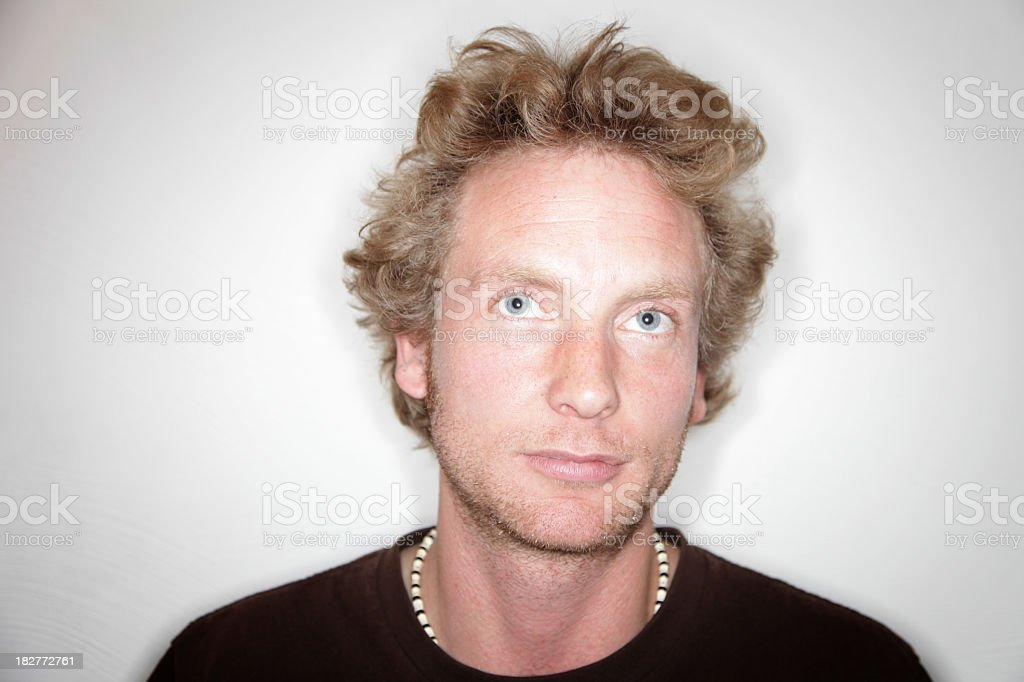 Blonde Mann Natürlichen Porträt Stock Fotografie Und Mehr Bilder Von