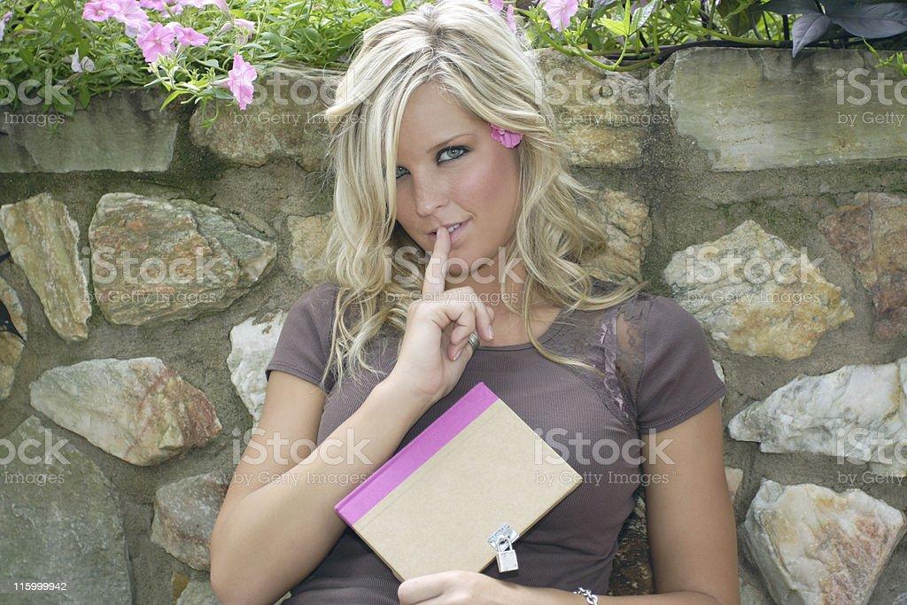 Blonde model series royalty-free stock photo