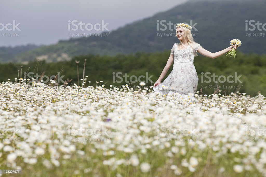 Blonde outdoors royalty-free stock photo