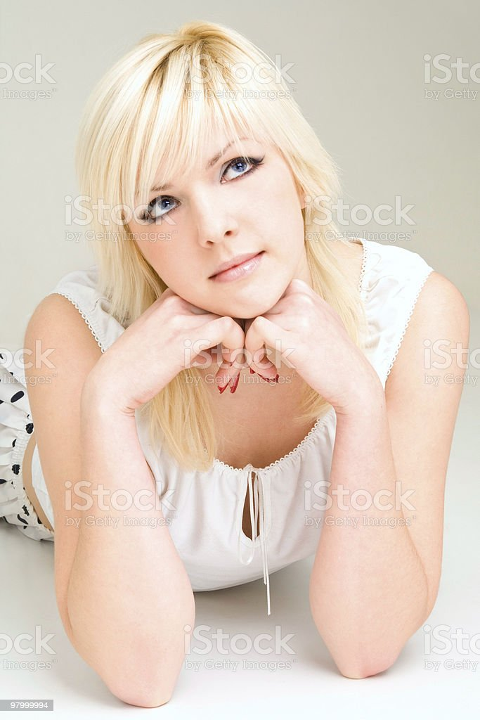 Blonde portret royalty-free stock photo