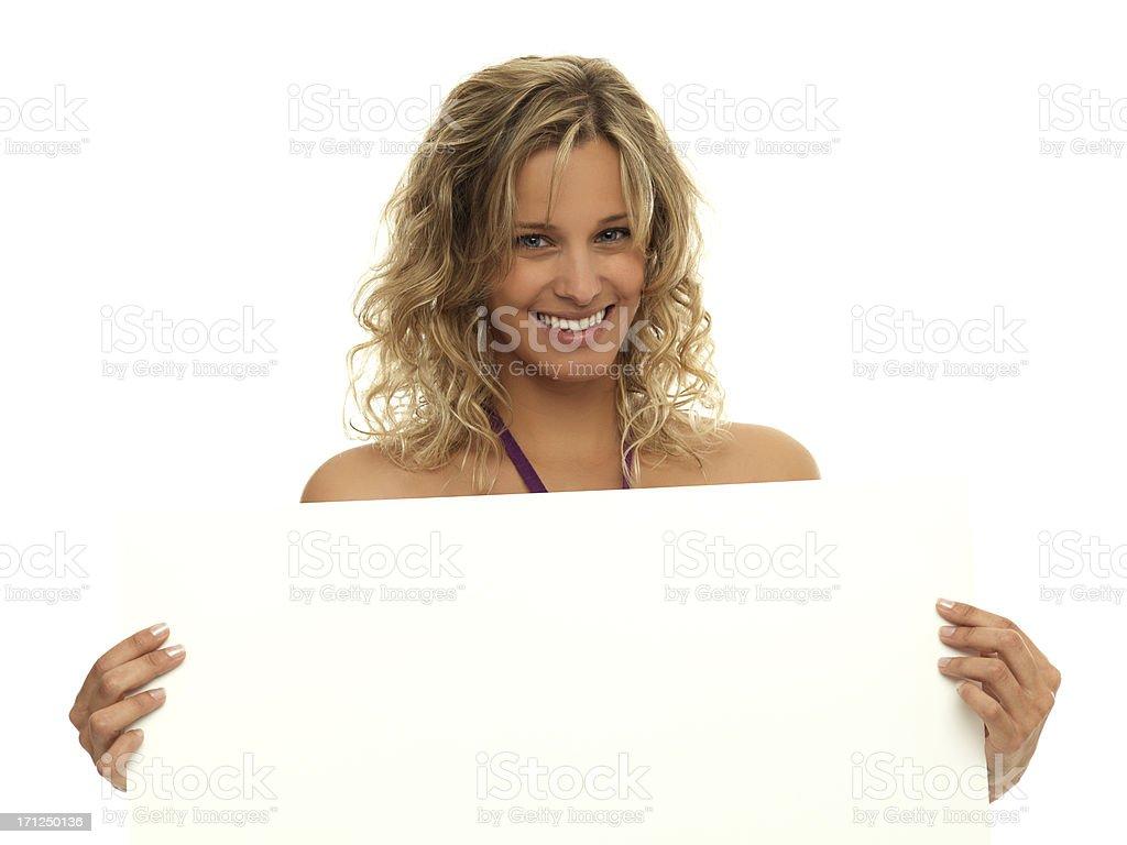 Blonde publicizing stock photo