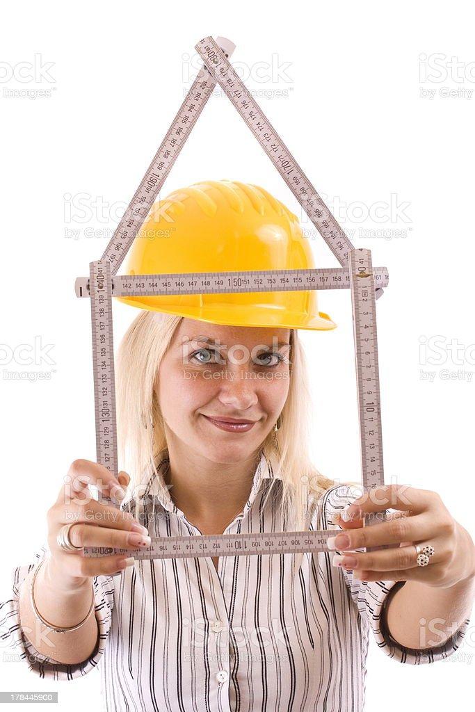 blonde repair woman royalty-free stock photo