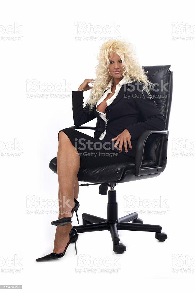 Blonde Sekretär Lizenzfreies stock-foto