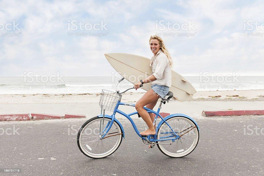 Blonde Surfer Girl royalty-free stock photo