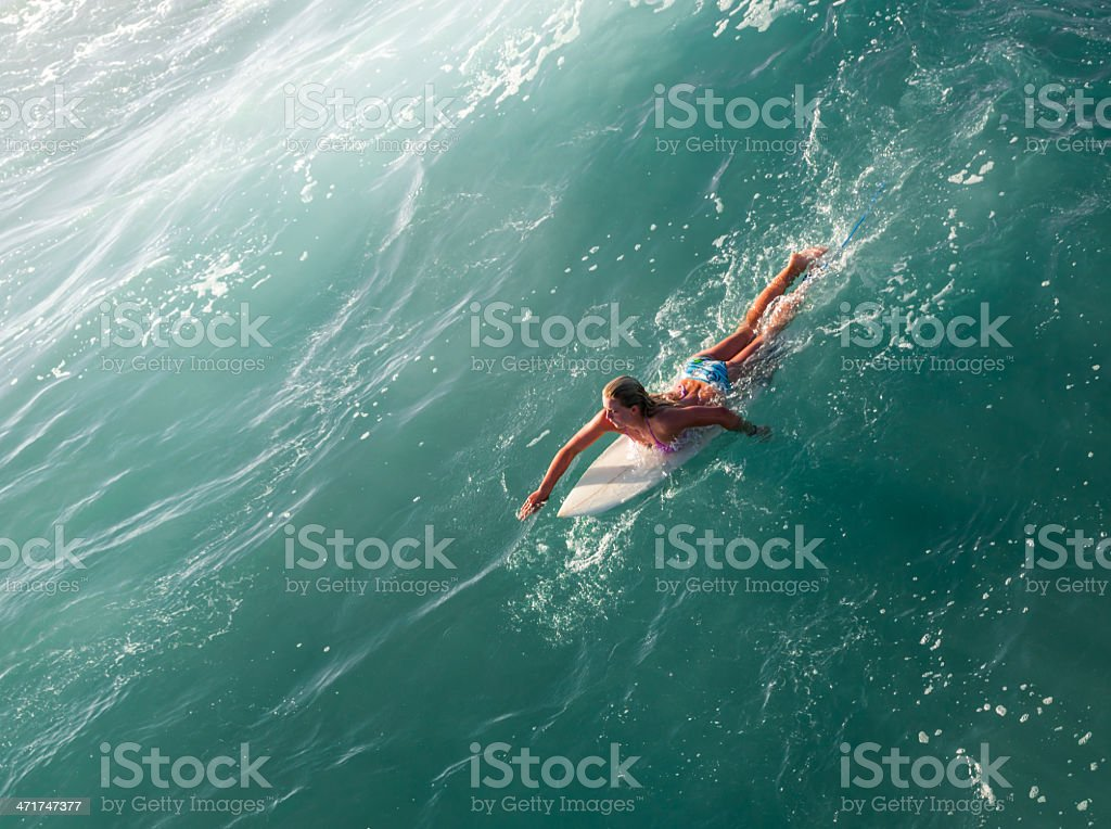 Blonde Surfer Girl stock photo