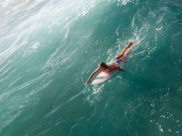 Blonde Surfer Girl stock photo