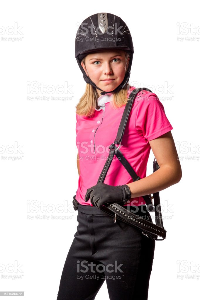 Blonde Teenager In Pink Horse Riding Outfit Stock Photo Download Image Now Istock