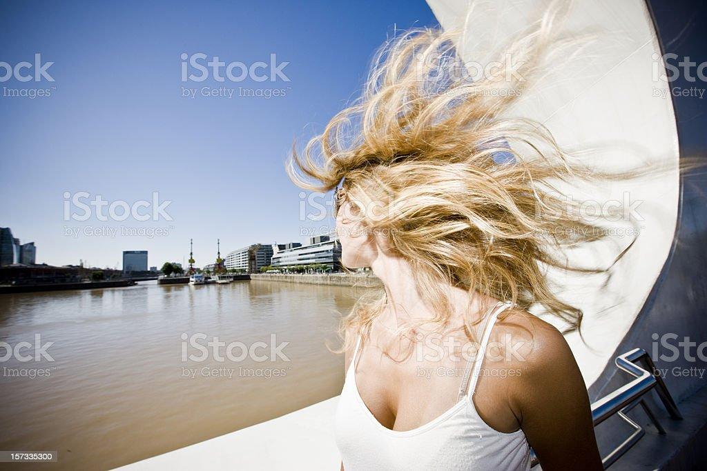 Blonde Twirl royalty-free stock photo