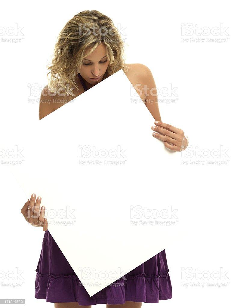 Blonde white poster stock photo