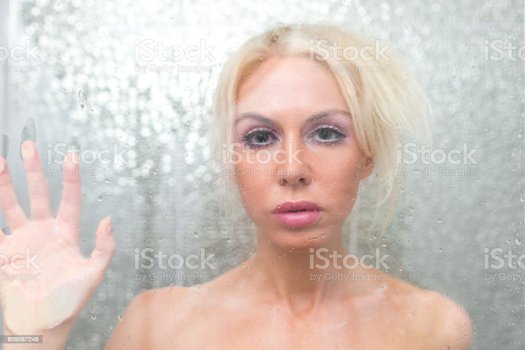 Blonde Wife In The Shower Royalty Free Stock Photo