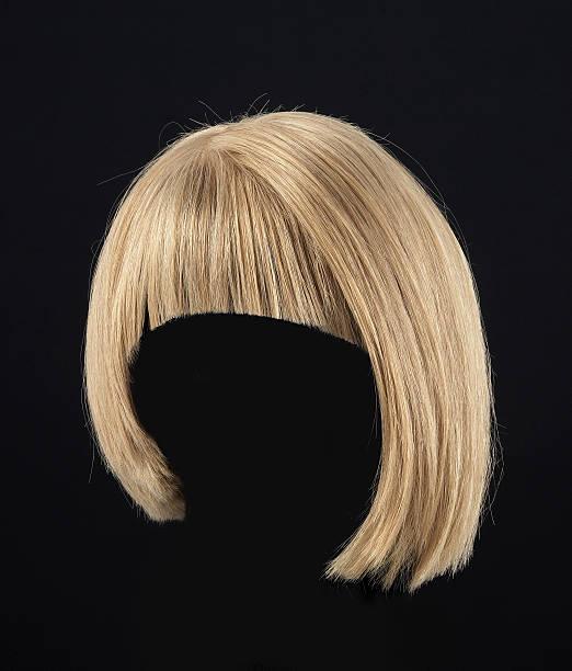 blonde wig - hair grow cyclus stockfoto's en -beelden
