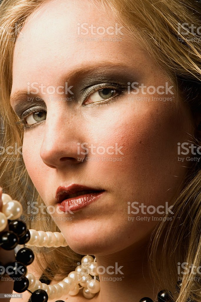 blonde with necklace royalty-free stock photo