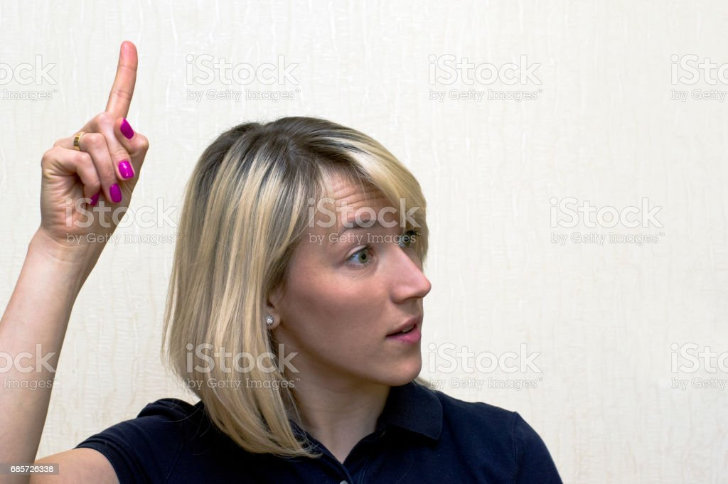 Blonde Woman Arguing royalty-free 스톡 사진