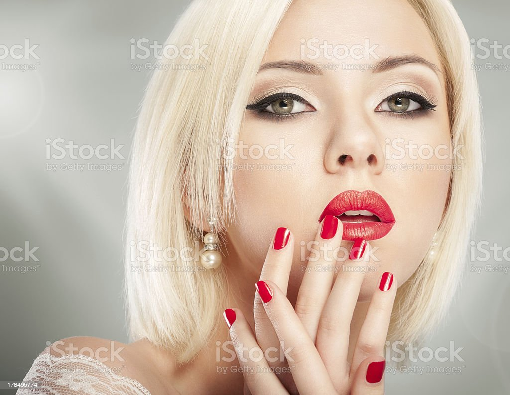 Blonde woman face royalty-free stock photo