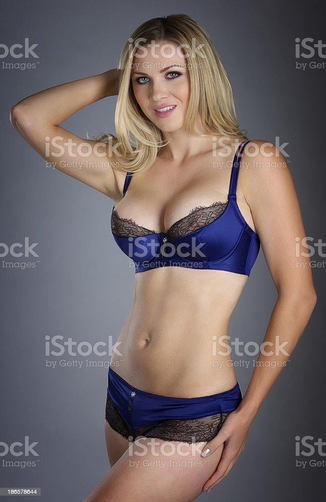 Blonde lingerie
