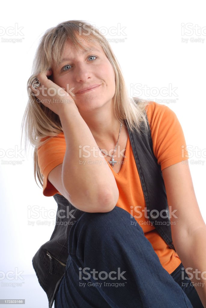 Blonde woman royalty-free stock photo