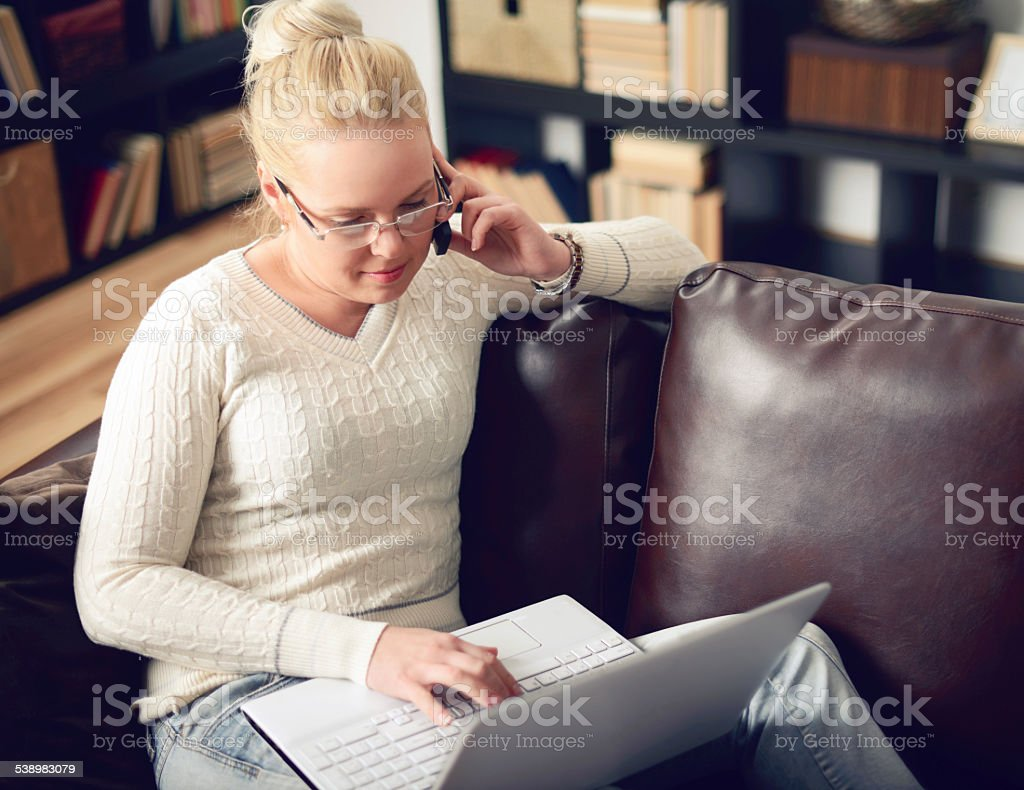 blonde woman stock photo
