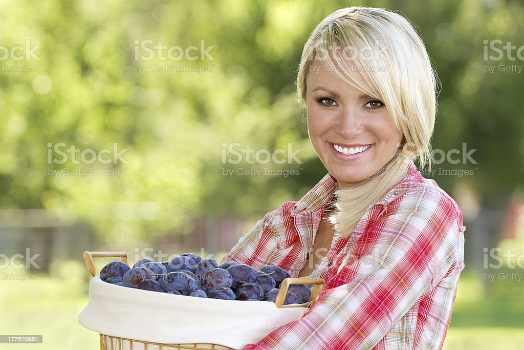 Blonde Young Woman stock photo