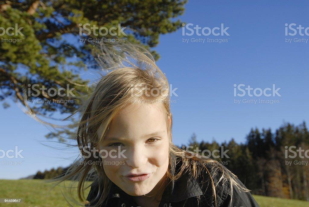 Blondes Mädchen im Wind royalty-free stock photo