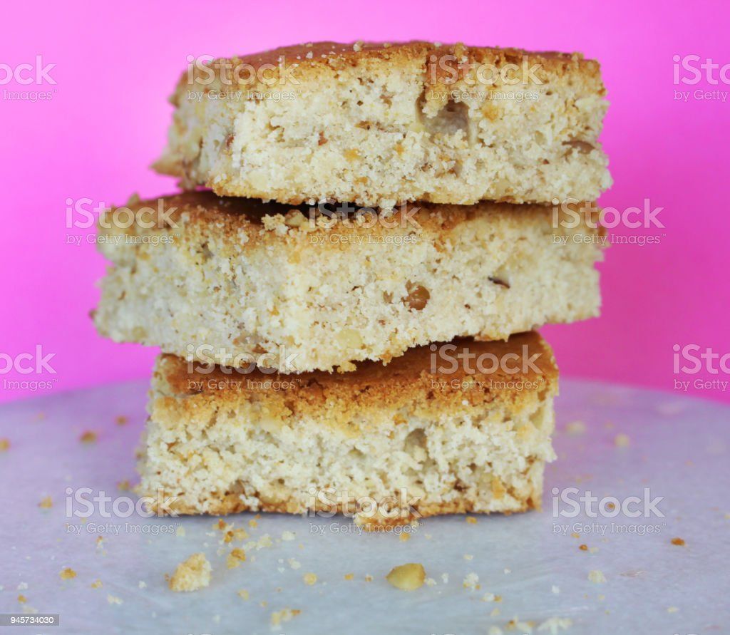 Blondie Stack on pink background stock photo