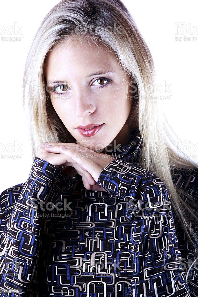 Blone posing royalty-free stock photo