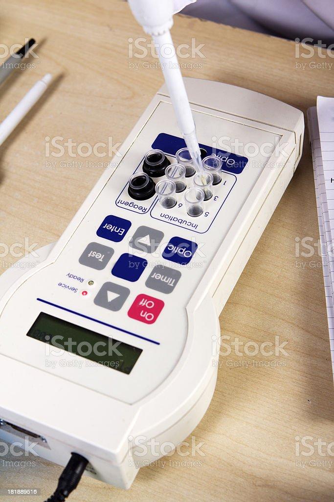 Blood Analyzing Machine royalty-free stock photo