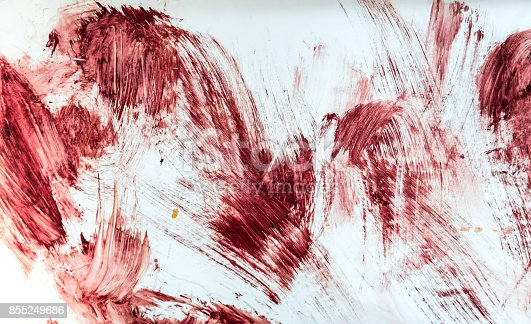 istock Blood and bloody marks in old bathtub. 855249686