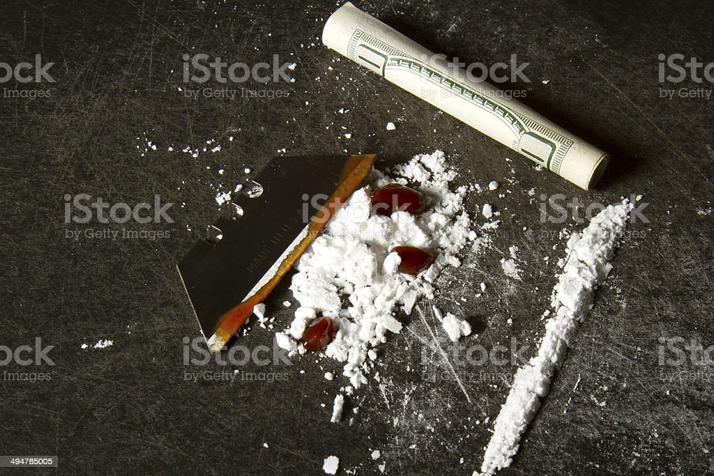 Blood and Cocaine stock photo