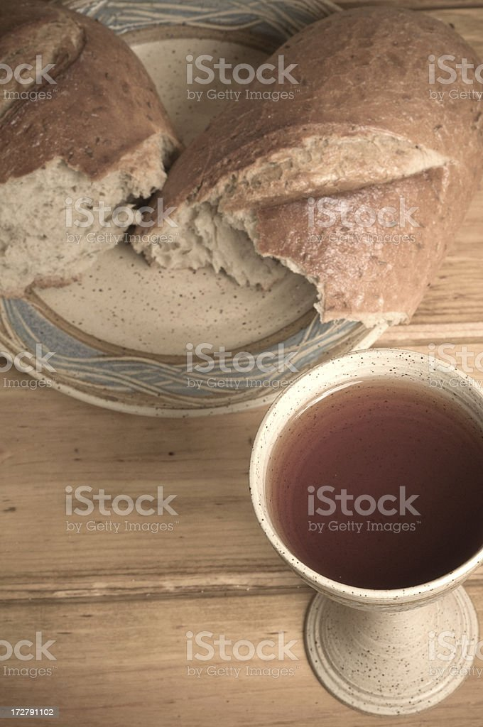 Blood and the Bread royalty-free stock photo