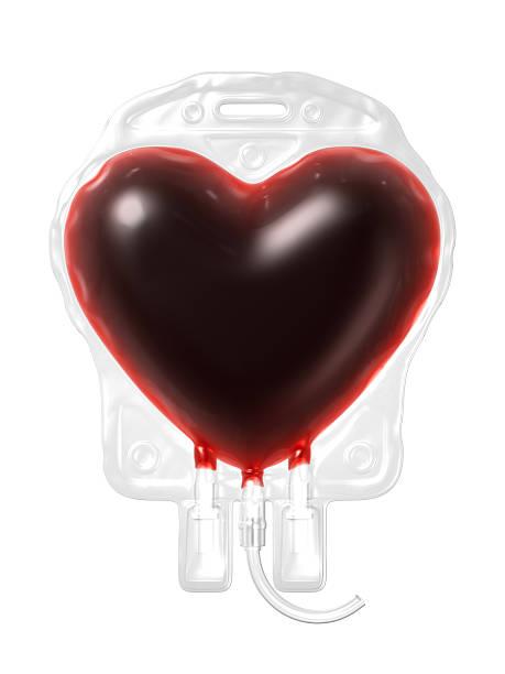Blood Bag. Spenden Sie Konzept – Foto