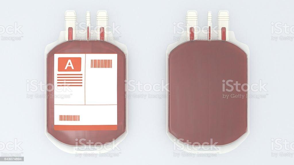 Blood bag stock photo