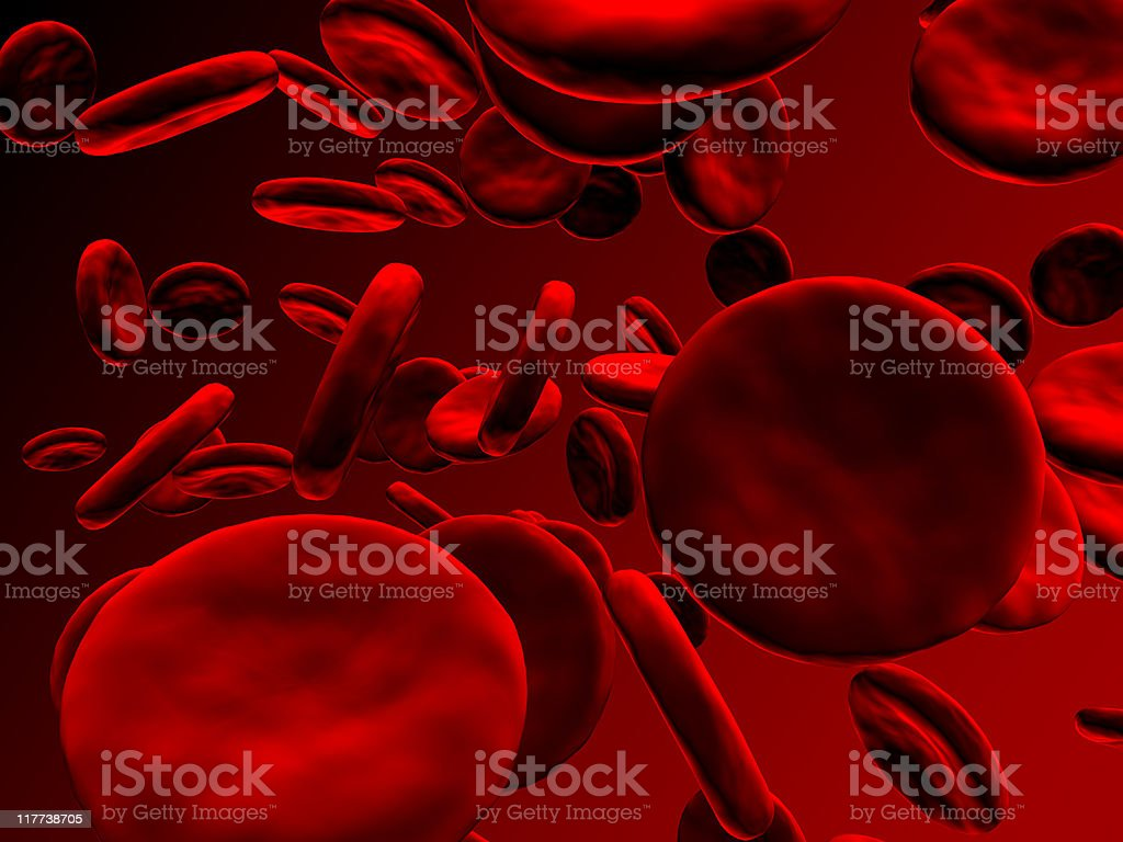 Blood cells on gradient background royalty-free stock photo